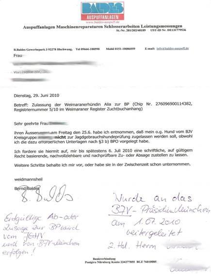 Brief Mit Einschreiben : Die reise nach weimar oder wie bekomme ich in bayern